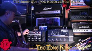 Shoot-Out : Line 6 POD HD 300 vs. Boss ME-70 ... Plus Demo / Review of all Amp Models PODHD vs. ME70