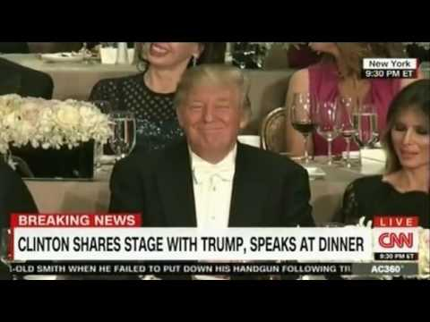 Trump and Hillary try to be funny and controversal at the Alfred Smith Dinner part 2