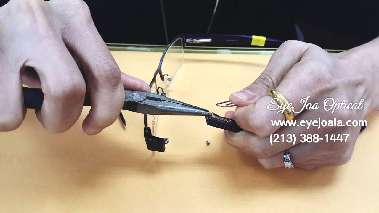 3f0b42c88fde Spring hinge glasses repair (How to fix) @ Eyejoa Optical - YouTube