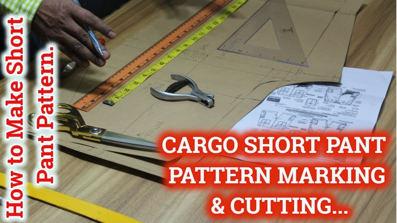 Download CARGO SHORTS PANTS PATTERN MAKING/How to Make Short Pant Pattern