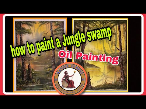 how to paint a swamp in oil paints @Bob Ross styled. ▶25:32