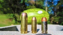 50ae vs 10mm vs 45acp - Watermelon Test