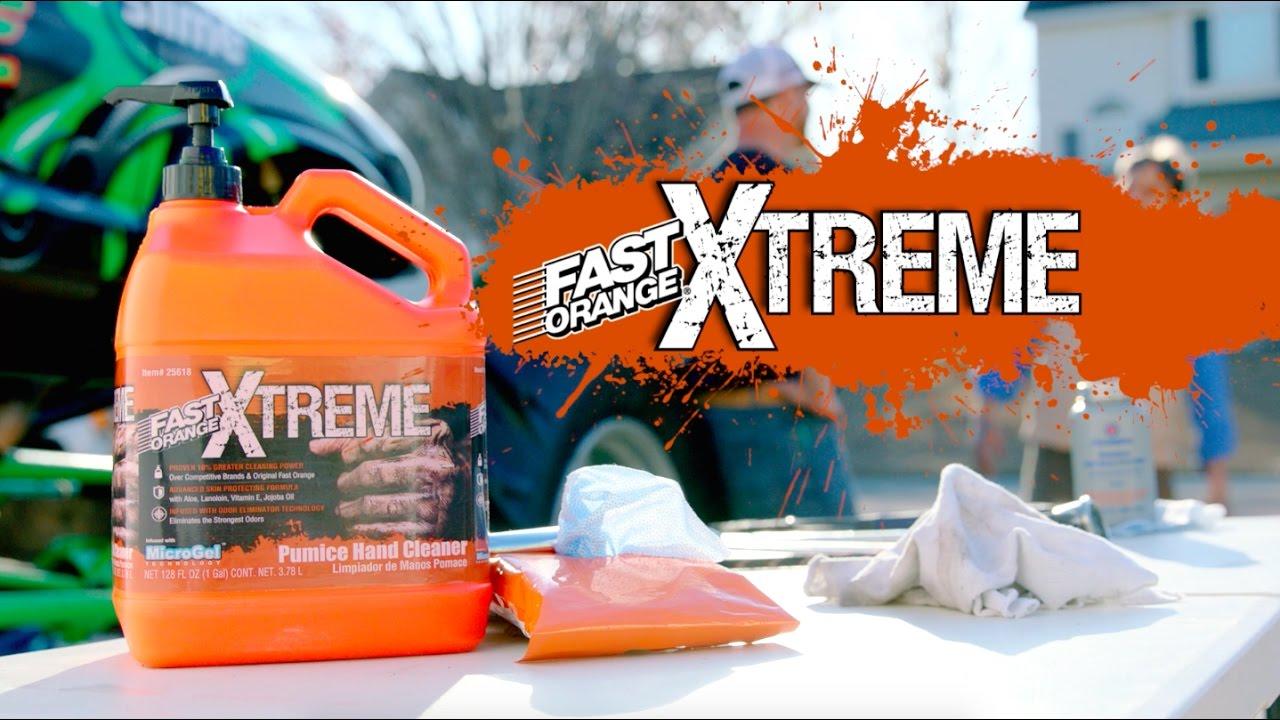 automotive hand cleaner for mechanic fast orange xtreme youtube