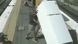 Man fined for trying to move refrigerator on train