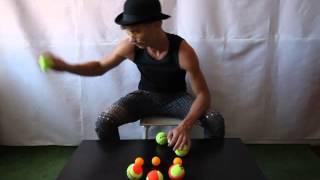 #06. Отскок. Реквизит. Каскад 3М (видео уроки по жонглированию от МК)