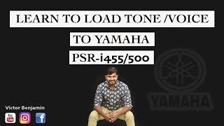 Super Easy lesson HOW TO LOAD VOICE/TONE FROM USB TO YAMAHA KEYBOARD PSR-i455 PSR-i500 