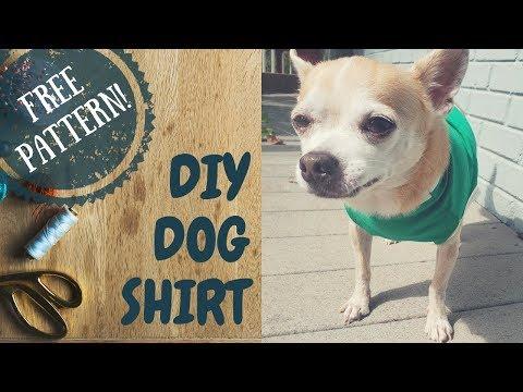 Easy Diy Dog Shirt Free Pattern Download Dog Fun Tube