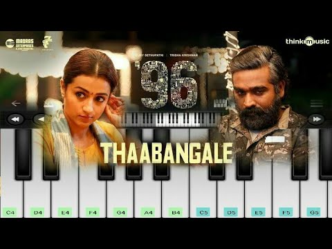 Thaabangale Piano   96 Movie   Tamil Piano   Vijay Sethupathi   Gopind Menon