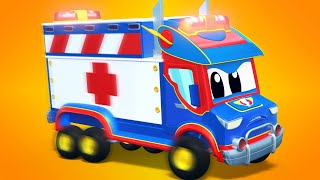 Ambulance cartoons for kids - FORKLIFT and RACECAR have chocolate troubles! - Super Truck Car City
