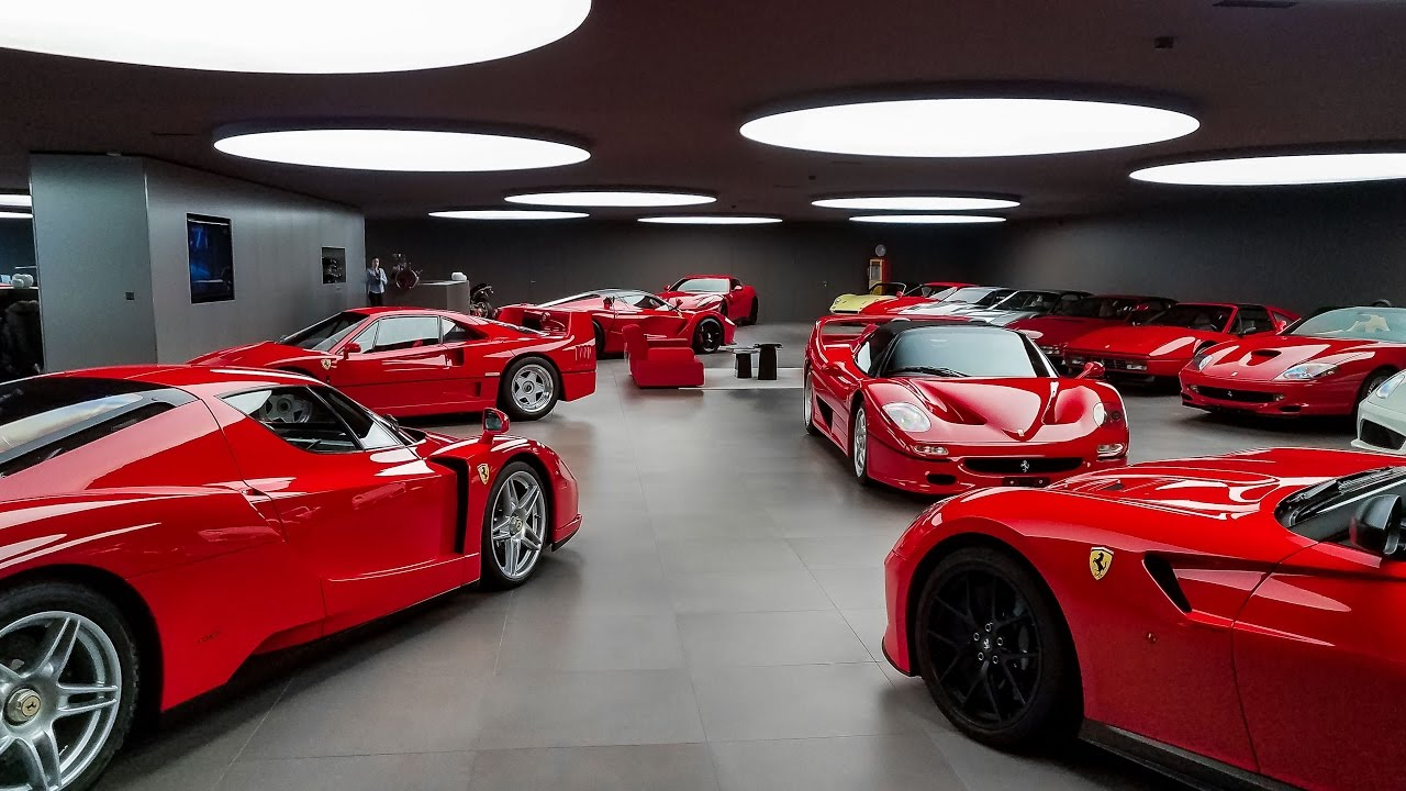 b36b8a2dac Visiting an Immaculate Ferrari Collection - YouTube