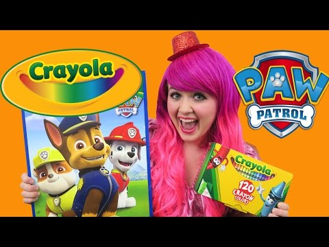 PAW Patrol GIANT Coloring Page Rubble, Chase, Marshall Rescue Pups  COLORING WITH KiMMi THE CLOWN - YouTube