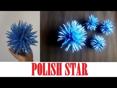 EASIEST WAY TO MAKE A POLISH STAR-USING PAPER/DIY CHRISTMAS CRAFTS