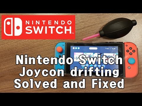 [Solved!] Nintendo Switch joycon controller drifting moving by itself