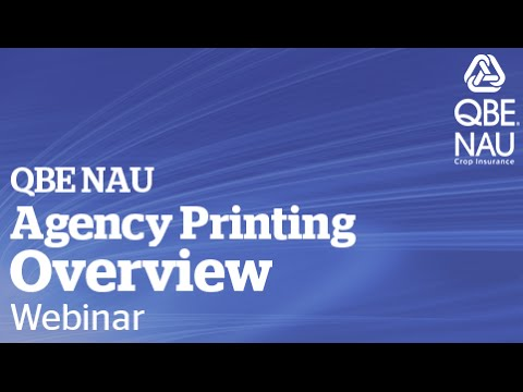 Agency Printing Overview