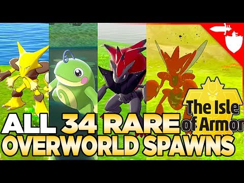 All 34 Rare Overworld Spawns in Isle of Armor - Pokemon Sword and Shield DLC