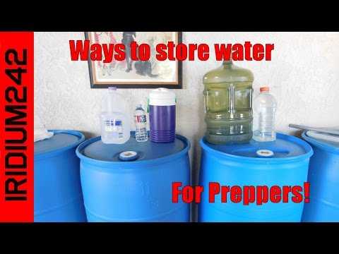 Basic Water Storage For Preppers! - YouTube