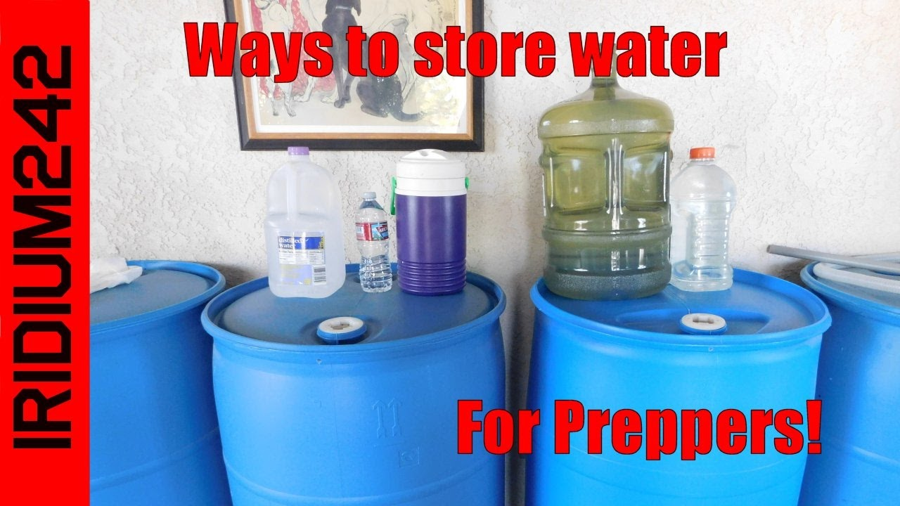 Basic Water Storage For Preppers! & Basic Water Storage For Preppers! - YouTube