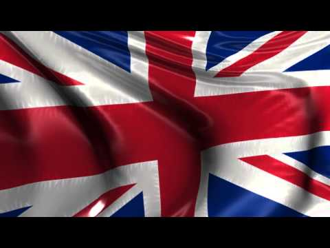 Union Jack British flag animation video background loop