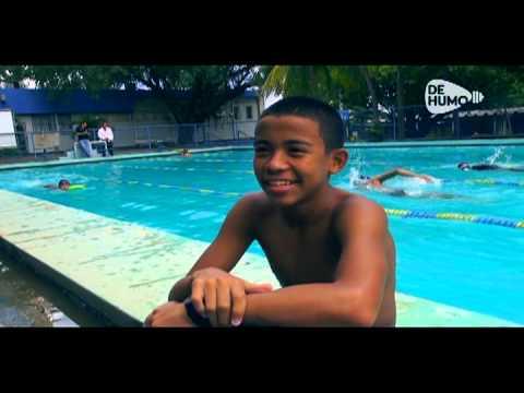 Un nadador de humalera