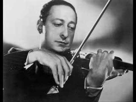 Heifetz - Vitali `Chaconne` with organ