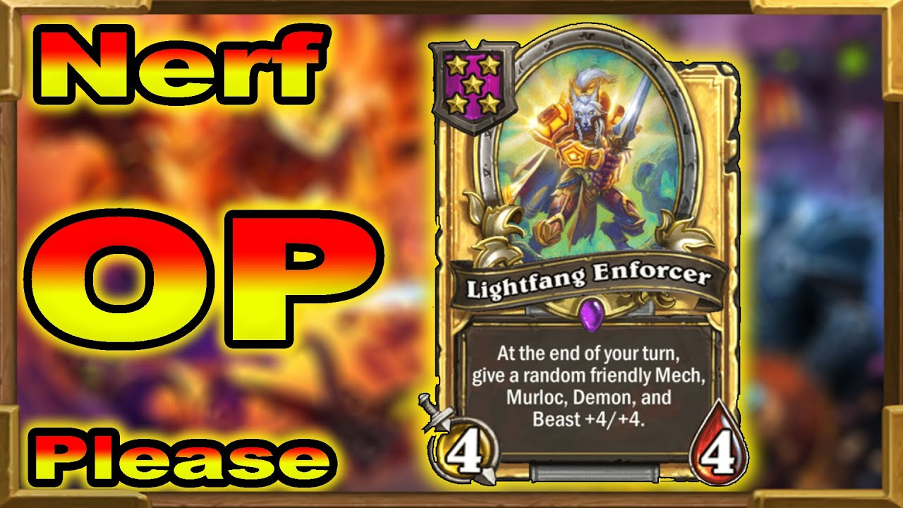 Hearthstone Battlegrounds: Lightfang Enforcer Has To Be Nerfed Right Now | The Rat King Perfect Run