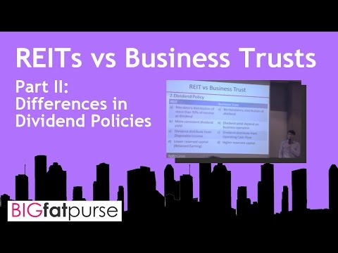 REITS Singapore - Dividend Policies