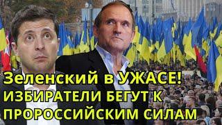 Срочно! Зеленский в УЖАСЕ: Рейтинг президента Украины ПАДАЕТ,а ПРОРОССИЙСКИЕ СИЛЫ РАСТУТ