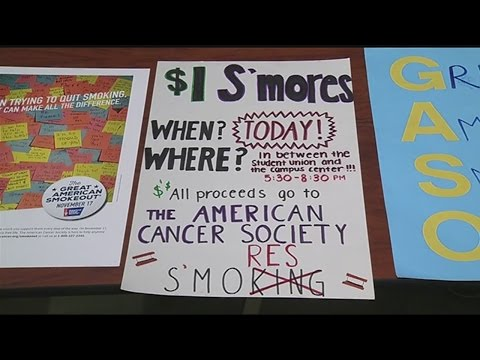 The Great American Smokeout: Nationwide effort to stop people from smoking