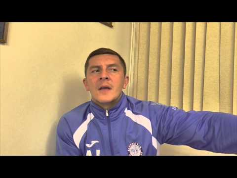 Joint manager Anthony Johnson talks about Ramsbottom United v Marine