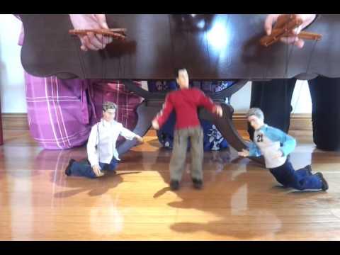 NSYNC dolls dancing to Bye Bye Bye