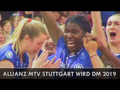 Allianz MTV Stuttgart wird Deutscher Meister 2019 █ 5  Finalspiel vs SSC  Schwerin