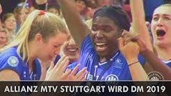 Allianz MTV Stuttgart wird Deutscher Meister 2019 █ 5. Finalspiel vs SSC Schwerin