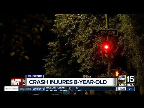 8-year-old girl injured in Phoenix crash