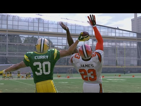 Can Stephen Curry Catch a 99yd Hail Mary From Aaron Rodgers While Covered by LeBron James!??