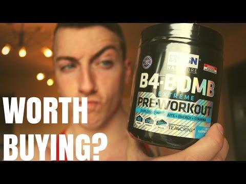 B4 Bomb Pre Workout Review (USN Pre Workout)