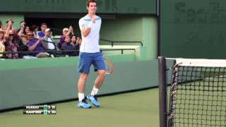 HEAD presents: Andy Murray surprises crowd and commentators!