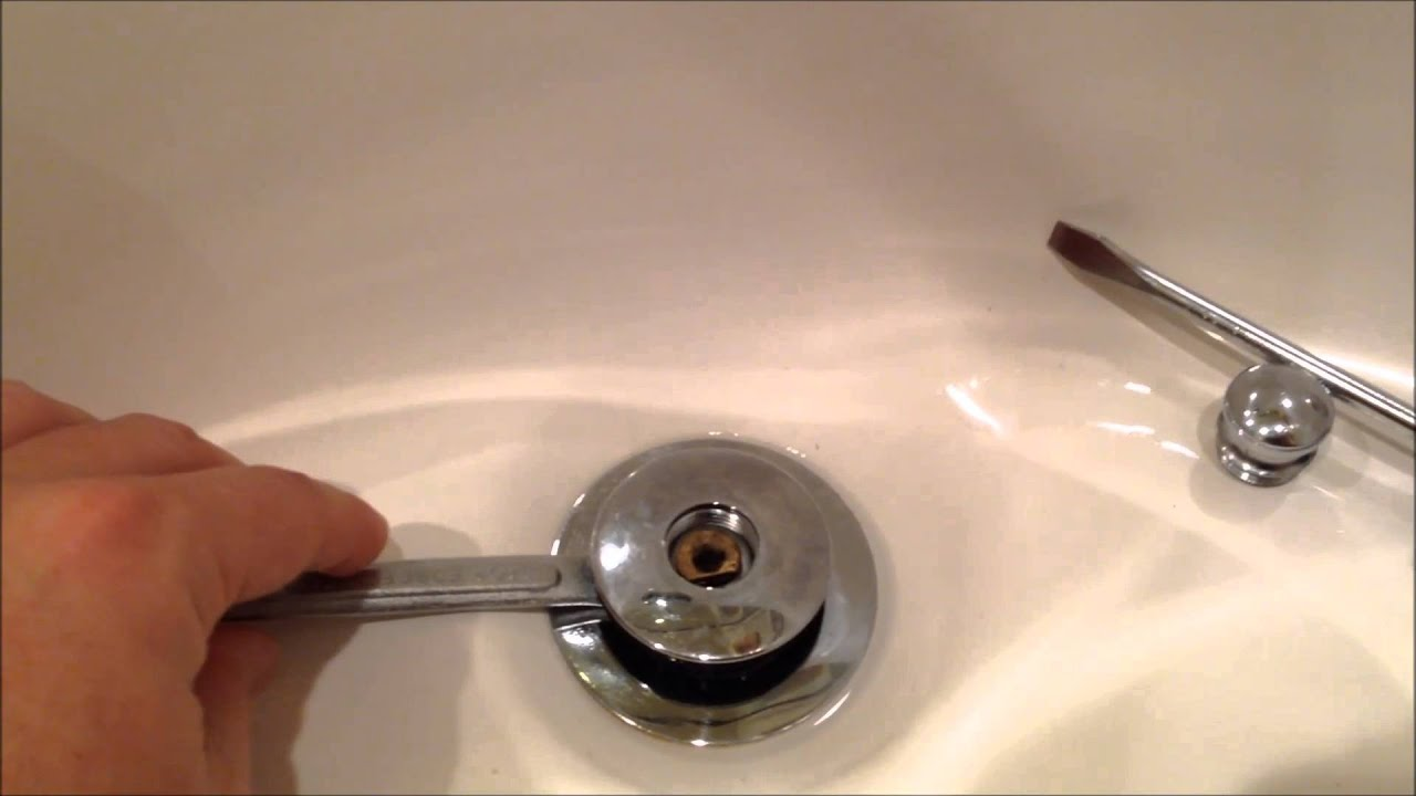 So Easy How To Remove A Watco Pop Up Drain Plug Youtube