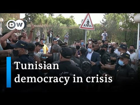 Tunisia on edge as president suspends government | DW News