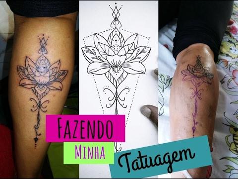 Fazendo Minha Tatuagem Na Perna Tatuagem Mandala Suelem Santos