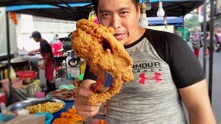 Malaysia Street Food || Rangka ayam goreng special || Pasar malam kampung melayu majidee Johor Bahru