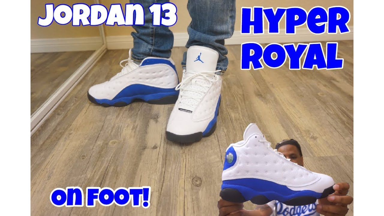 new style 801f4 9f8ef Jordan 13 Hyper Royal Review + On Feet