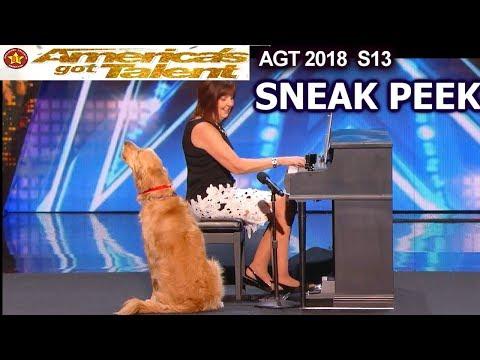 SNEAK PEEK Oscar and Pam The Singing Dog America's Got Talent 2018 Sneak Peek AGT Season 13