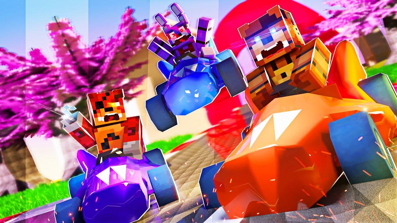 Minecraft: FNAF KART- APOSTAMOS CORRIDAS DE ANIMATRONICS! #01