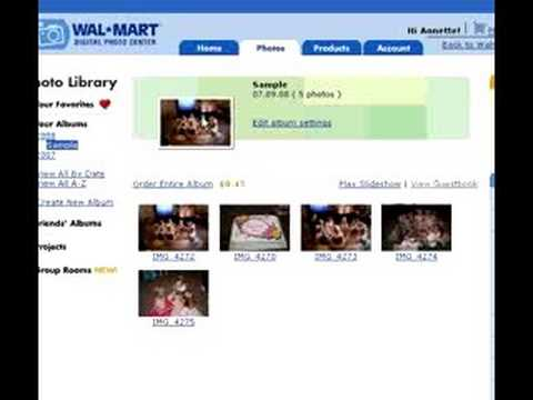 Digital Photography , How To Order Pictures, Wal-Mart Online