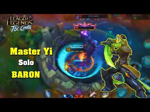 Liên Minh : Tốc Chiến | Master Yi Full Đồ Solo Với Baron Ở Phiên Bản Mobile | Và Cái Kết