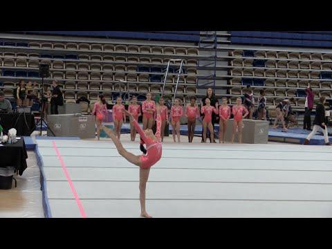 Annie the Gymnast   Level 7 Gymnastics Meet 8   Acroanna poster