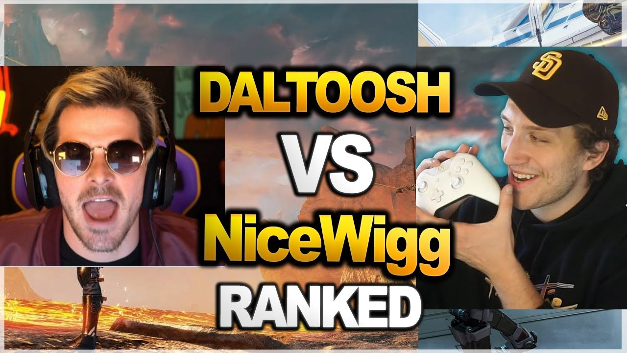 TSM Daltoosh TEAM vs NiceWigg TEAM in ranked   PERSPECTIVE   ( apex legends )
