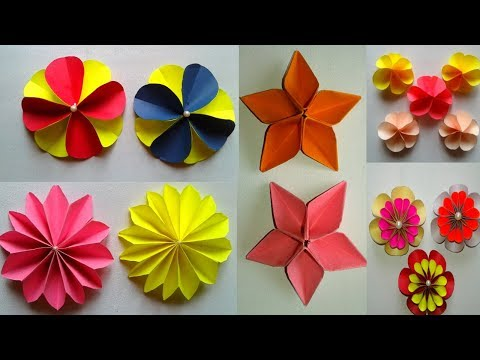 5 Easy Beautiful Paper Flowers | DIY Origami paper flowers || SUNIL CREATION