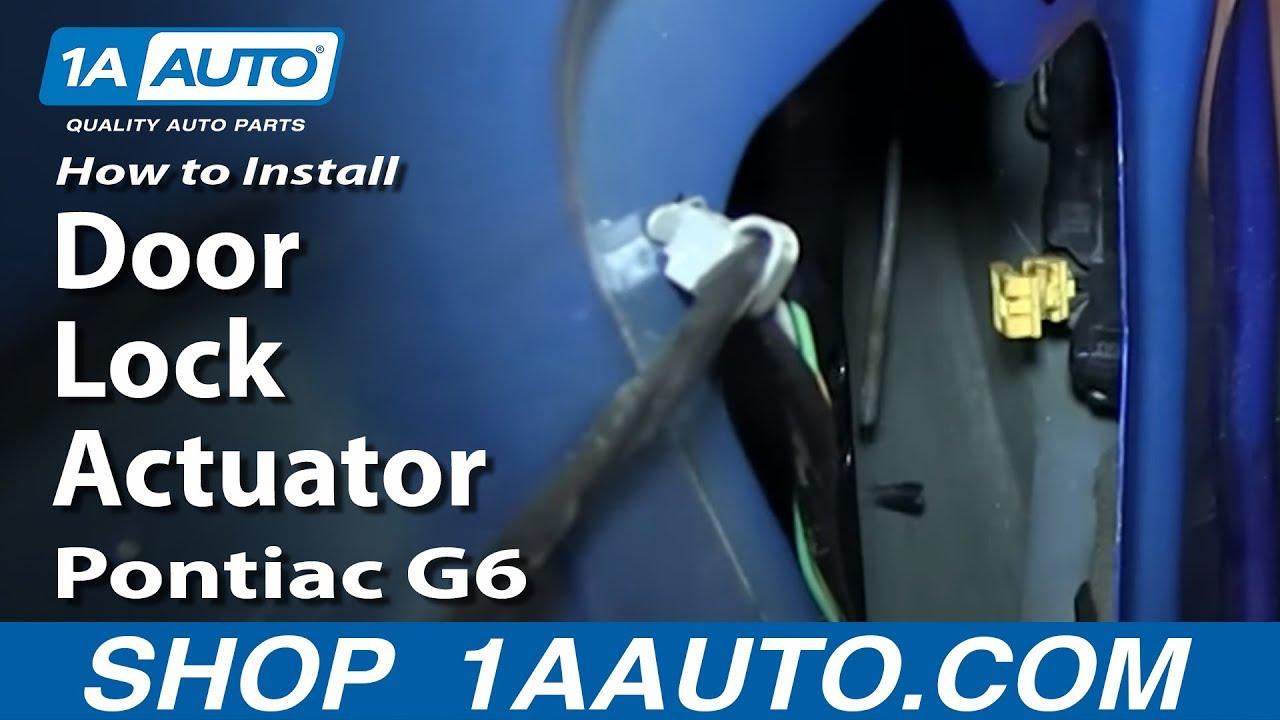 how to install replace door lock actuator 2005 10 pontiac g6 [ 1280 x 720 Pixel ]