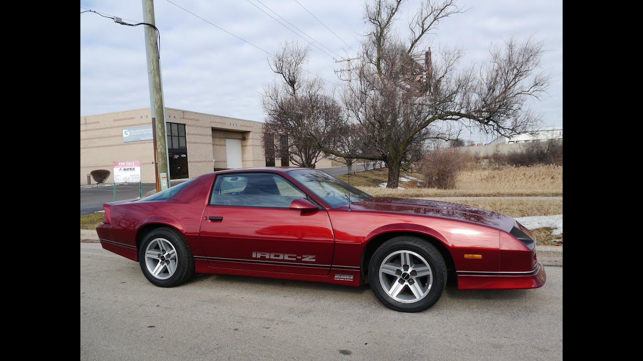 1987 chevrolet camaro iroc z28 for sale youtube. Black Bedroom Furniture Sets. Home Design Ideas